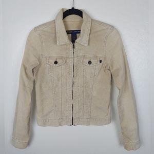 Abercrombie&Fitch Tan Stretch Corduroy Jacket